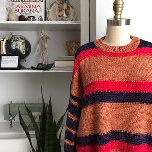 Woven Heart • Stripe Chenille Sweater